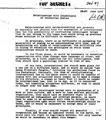 Oppenheimer-Einstein Memo page 1