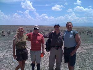 Debbie Ziegelmeier, Jesse Marcel Jr., M. Baiata e Chuck Zukovsky (foto M. Baiata)