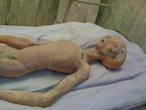 """Il pupazzo della """"creatura"""" esposto all'International Roswell Museum (foto: Maurizio Baiata)"""