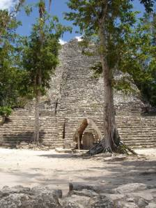 Quintana Roo, Coba, Archeological Zone, Temple the Church at the Macanxoc group
