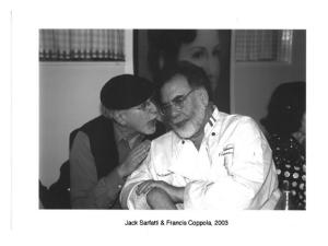 Jack Sarfatti e il produttore cinematografico Francis Ford Coppola. (Foto: archivio Jack Sarfatti)