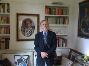 Il fisico americano nell'abitazione dei Sarfatti, a Roma. (Foto: archivio Jack sarfatti)