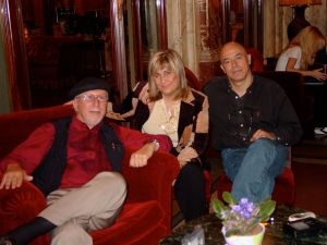 Jack Sarfatti, Paola Harris e Maurizio Baiata, a Roma nel 2006. (foto: Archivio Maurizio Baiata)