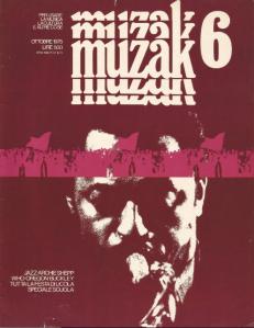 La copertina del numero 6 del mensile Muzak.