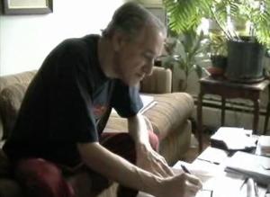 Wolf scrive la dedica del suo libro alla famiglia Poggi.