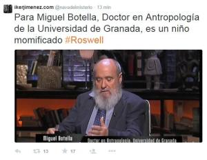 Miguel Botella, anthropologist of the Granada University, is convinced: that is a mummy of a child.