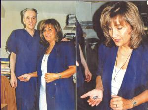 Il dottor Michael Wolf e la giornalista italoamericana Paola Harris. Foto P. Harris