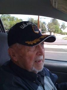 Col. Stevens drivin' his car out of Tucson, in 2009. (photo: Maurizio Baiata)
