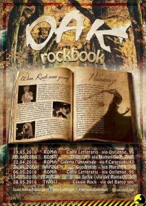 """La locandina di """"RockBook"""" indica tutte le date e le location in programma."""