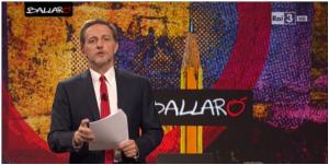 """Massimo Gianni, durante la puntata incriminata di """"Ballarò"""""""