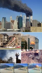 Montaggio di immagini dell'11/9/2001. Fonte: Wikipedia
