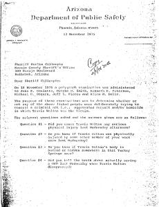 Il rapporto dei test al poligrafo condotti sui testimoni del caso Walton.