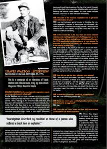 Intervista di Maurizio Baiata a Travis Walton, pubblicata da Open Minds Magazine nel 2010.